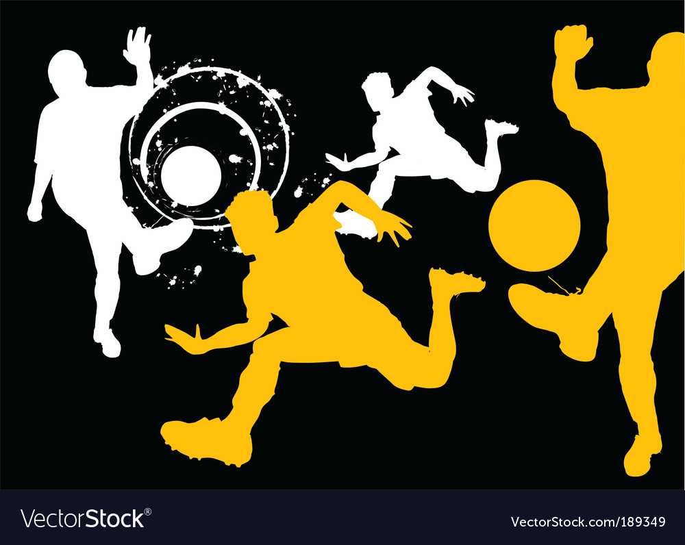 Soccer silhouettes vector | Price: 1 Credit (USD $1)