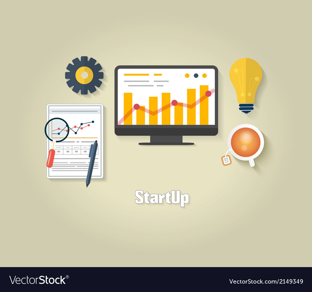 Start up concept vector | Price: 1 Credit (USD $1)