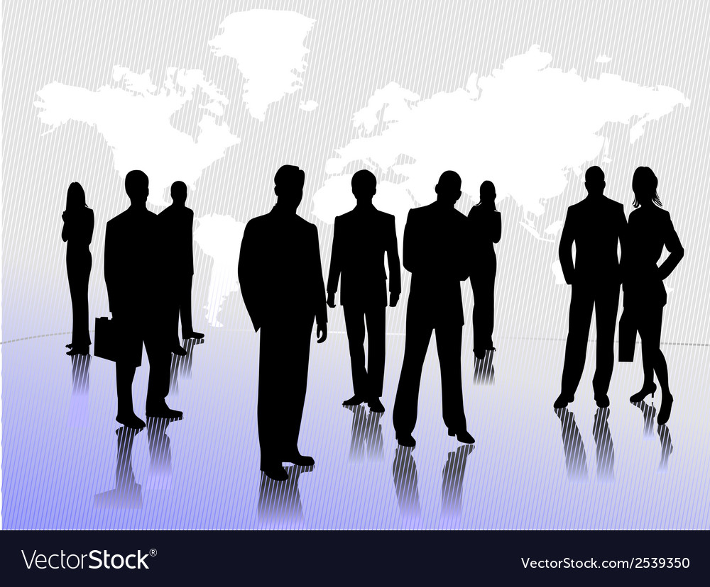 0213business people silhouettes vector | Price: 1 Credit (USD $1)