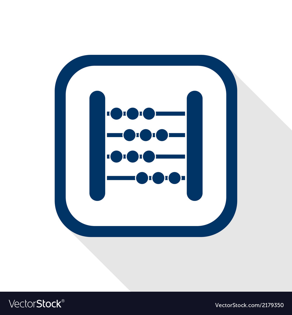 Abacus flat icon vector | Price: 1 Credit (USD $1)