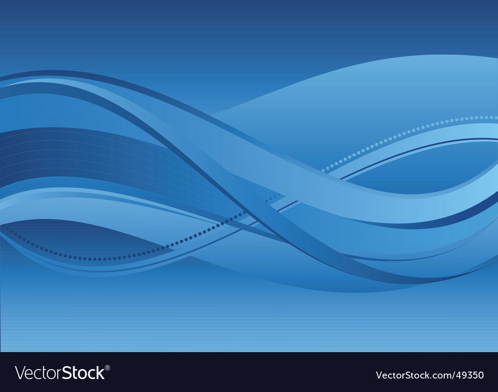 Abstract background blue waves vector | Price: 1 Credit (USD $1)