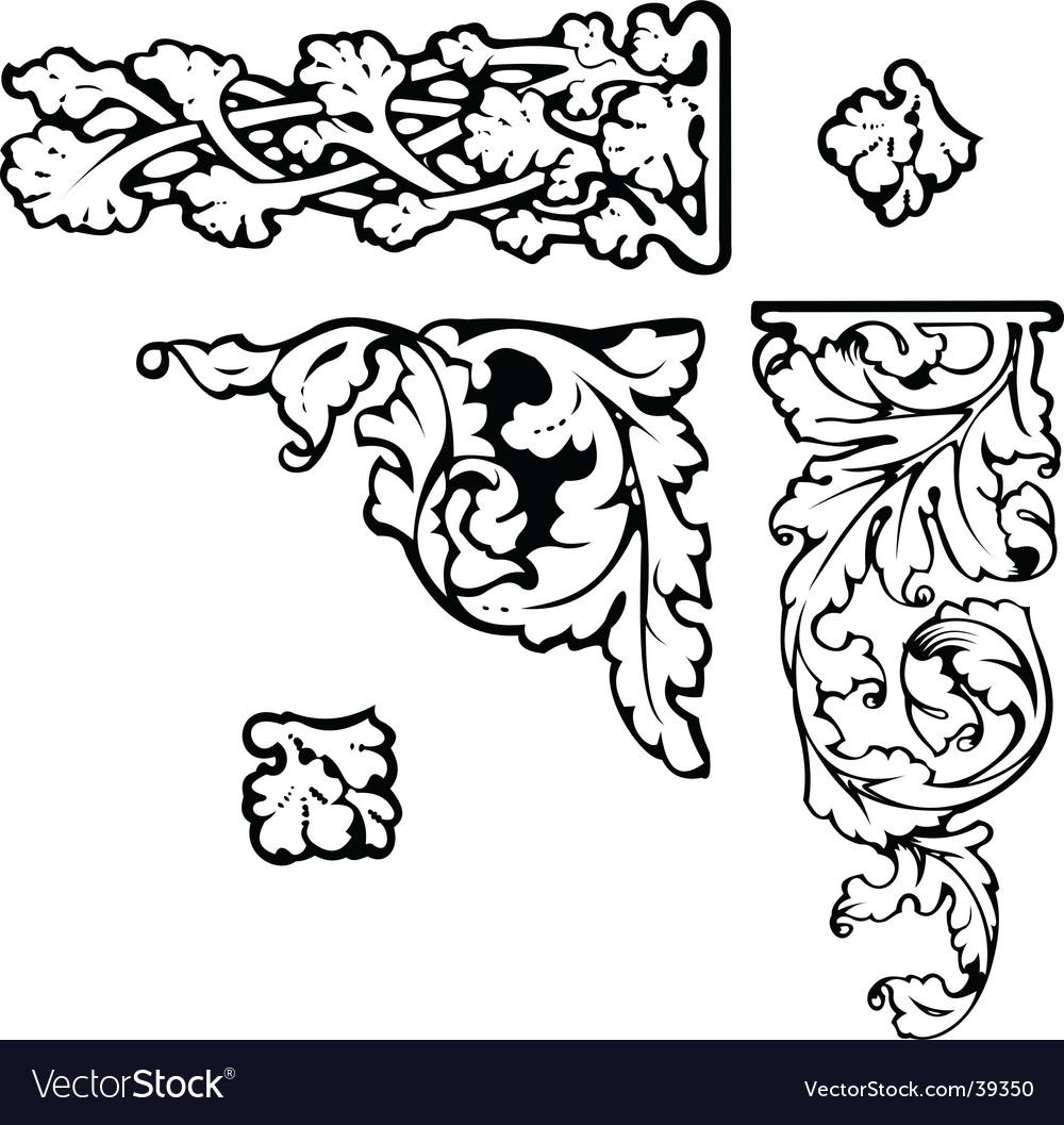 Baroque clipart vector