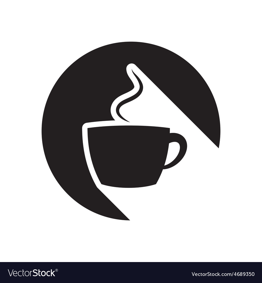 Black icon with cup and stylized shadow vector | Price: 1 Credit (USD $1)