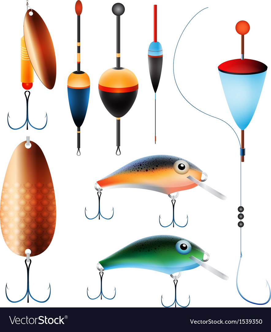 Fishing equipment vector | Price: 1 Credit (USD $1)