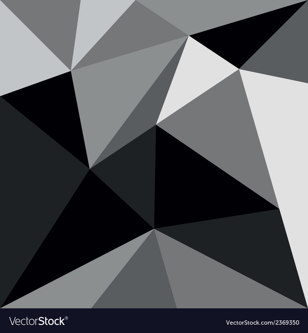 Grey and black triangle background or pattern vector | Price: 1 Credit (USD $1)
