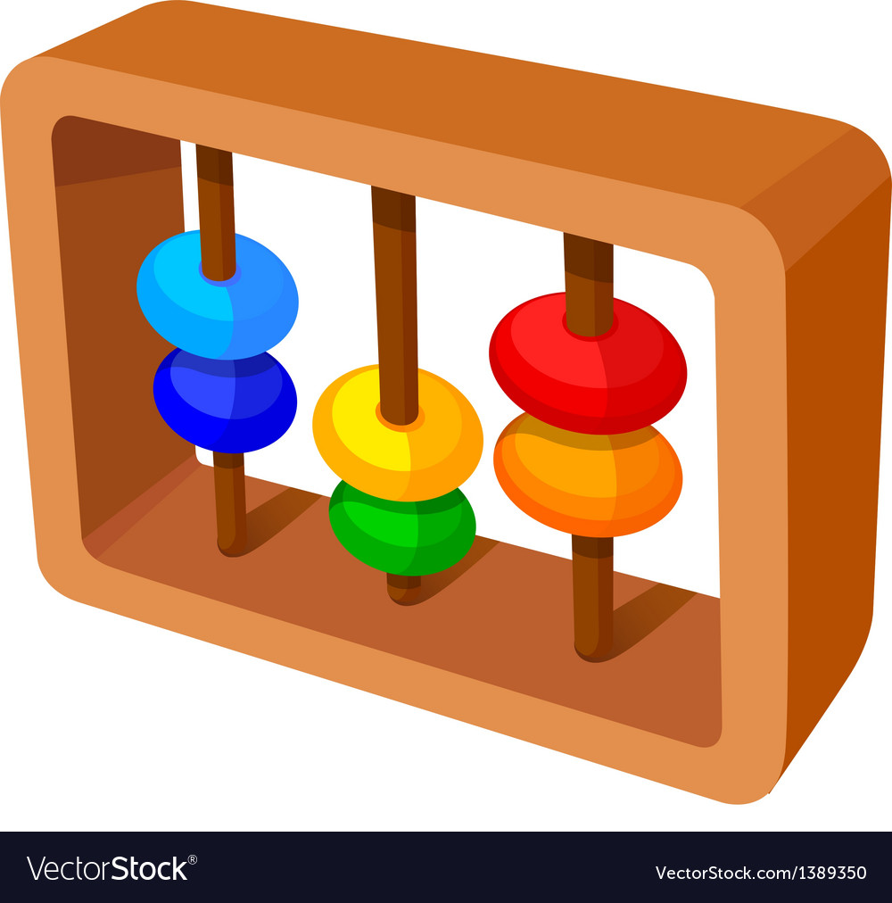 Icon abacus calculation vector | Price: 1 Credit (USD $1)