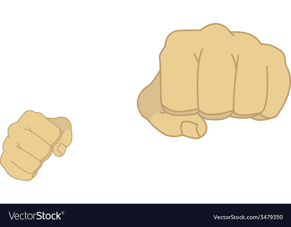 Man fists in fight stance vector | Price: 1 Credit (USD $1)