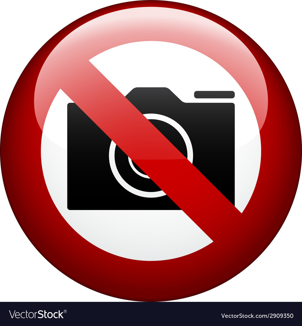 No camera mark vector | Price: 1 Credit (USD $1)