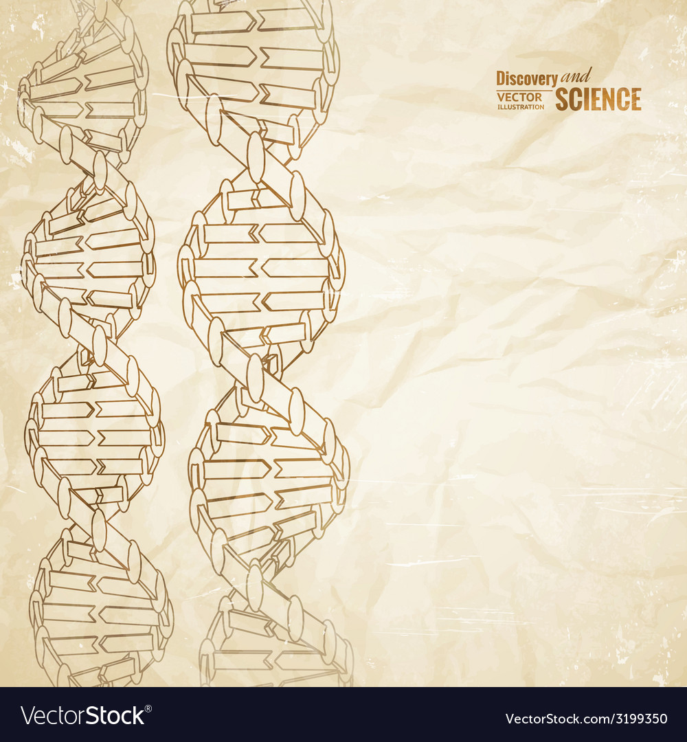 Old paper with dna vector | Price: 1 Credit (USD $1)