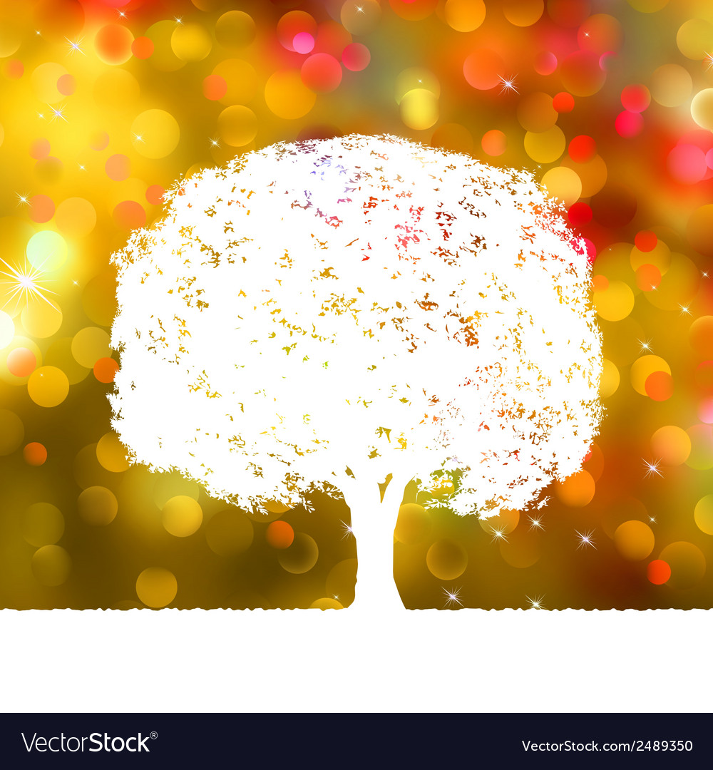 Summer background with tree silhouette eps 8 vector | Price: 1 Credit (USD $1)