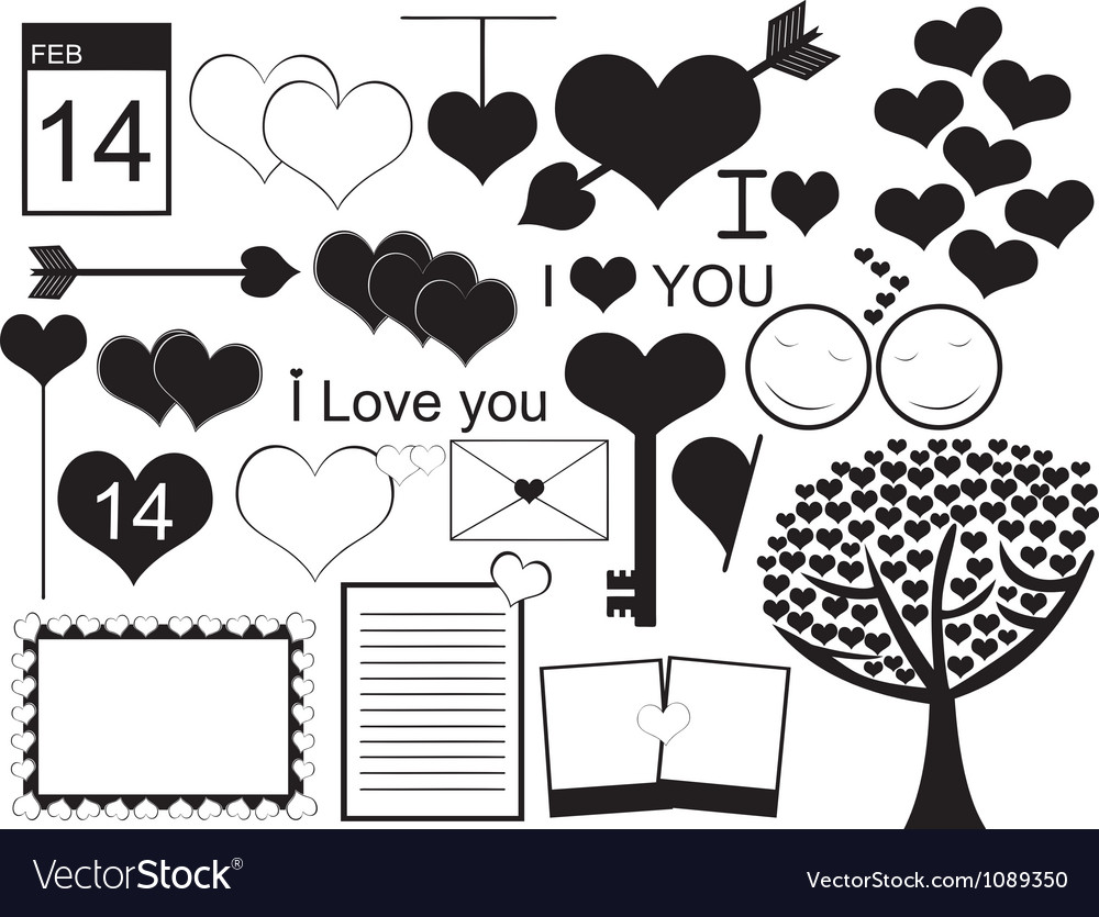 Valentine day collage vector | Price: 1 Credit (USD $1)