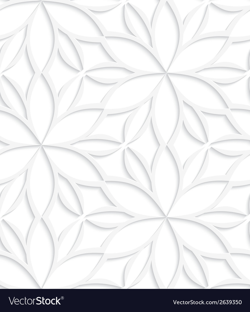 White floral detailed seamless vector | Price: 1 Credit (USD $1)