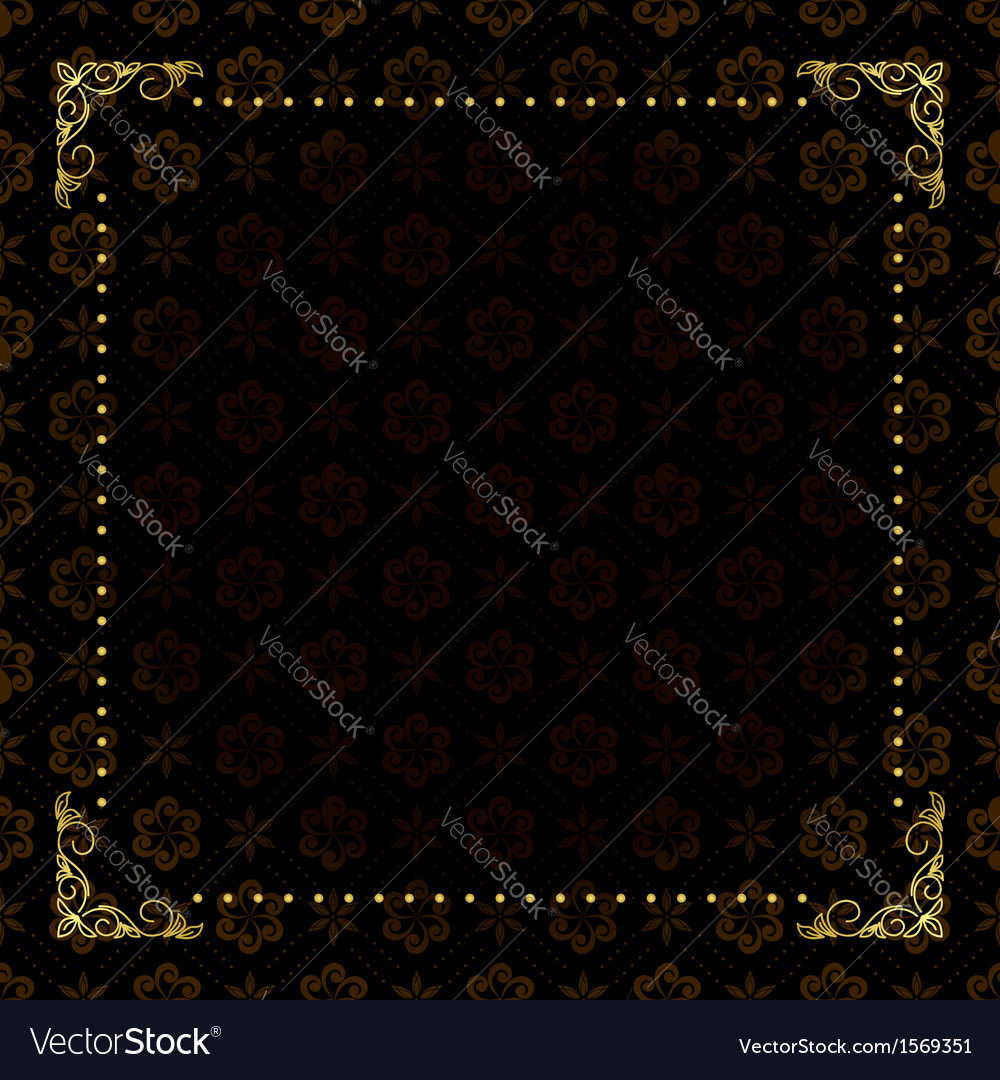 Black card with gold frame vector | Price: 1 Credit (USD $1)