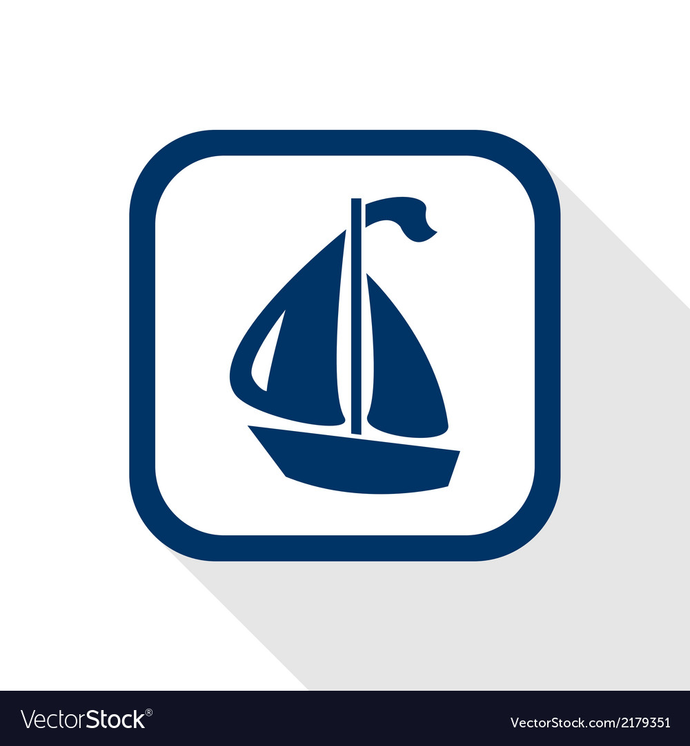 Boat flat icon vector | Price: 1 Credit (USD $1)