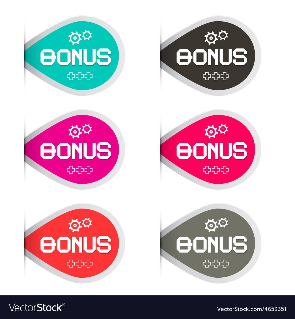 Bonus labels set vector | Price: 1 Credit (USD $1)