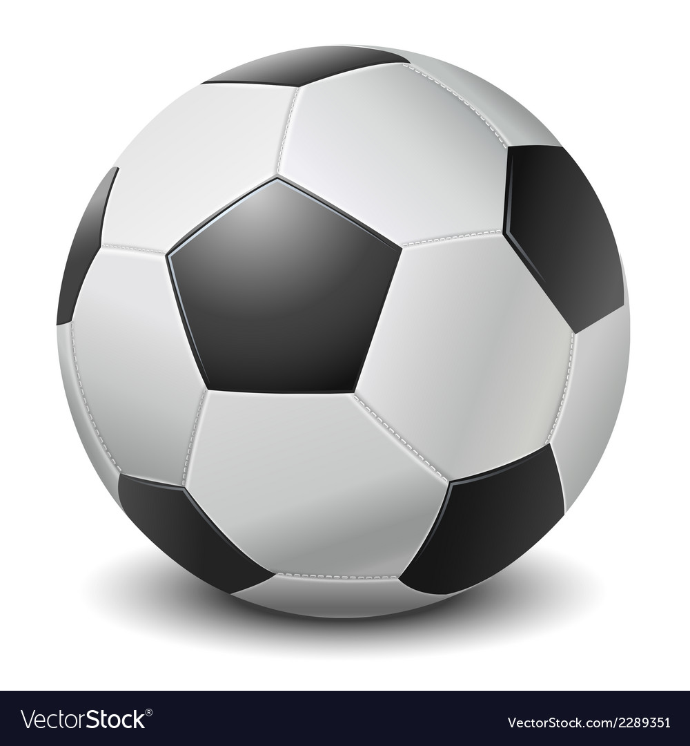 Detailed black fringe football ball vector | Price: 1 Credit (USD $1)