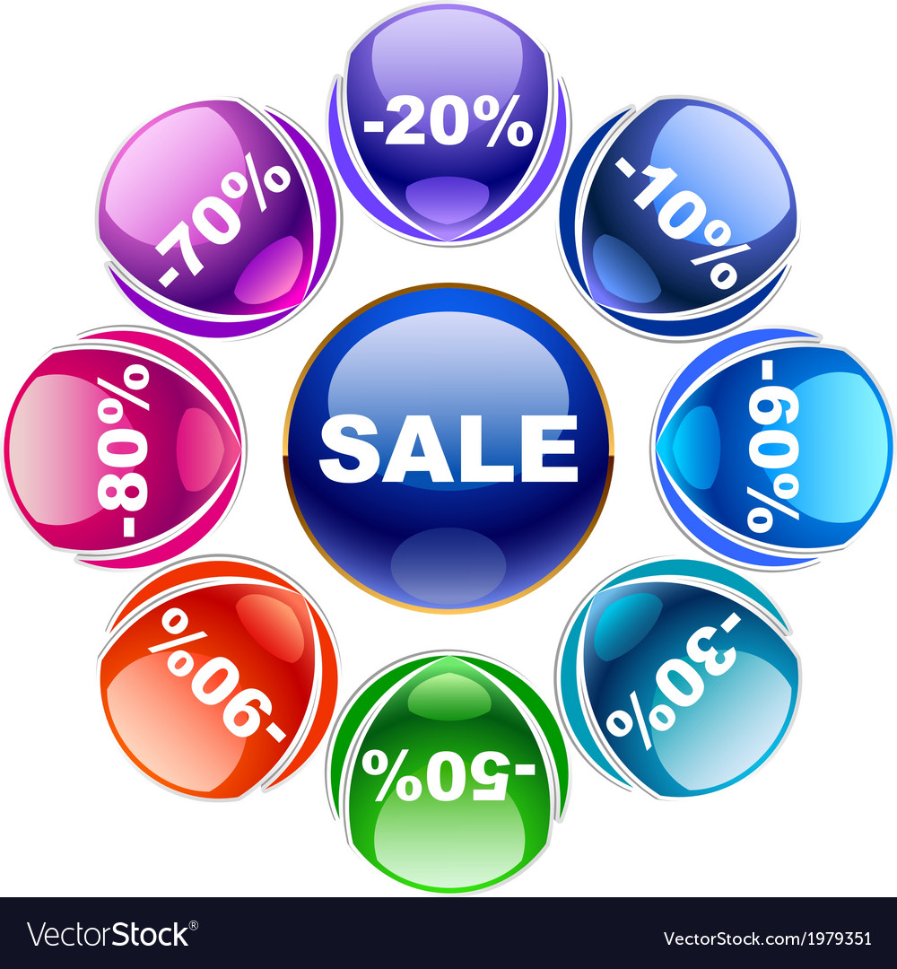 Discount labels vector   Price: 1 Credit (USD $1)