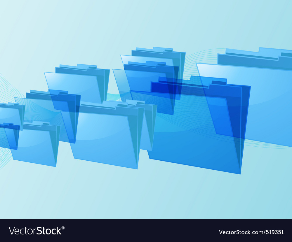 Flying blue folders vector | Price: 1 Credit (USD $1)