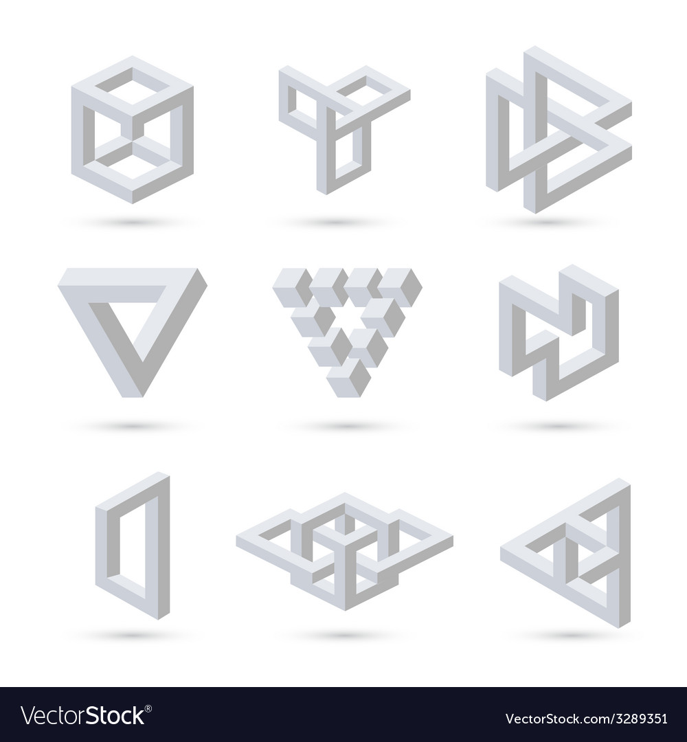Geometric optical symbols vector | Price: 1 Credit (USD $1)