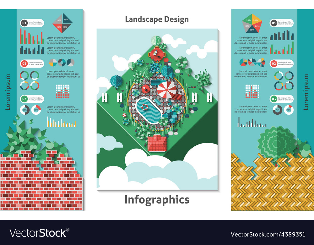 Landscape design infographics vector | Price: 1 Credit (USD $1)