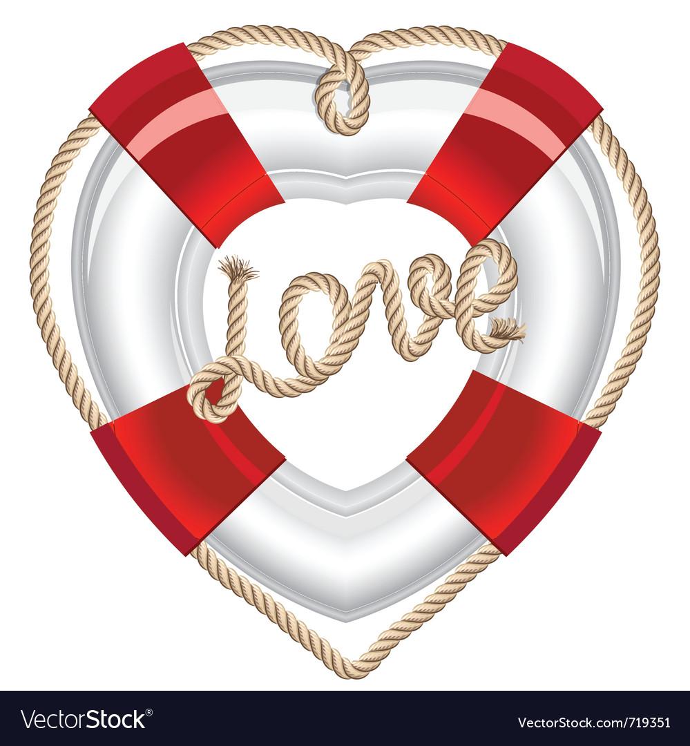 Life belt heart valentine vector | Price: 1 Credit (USD $1)