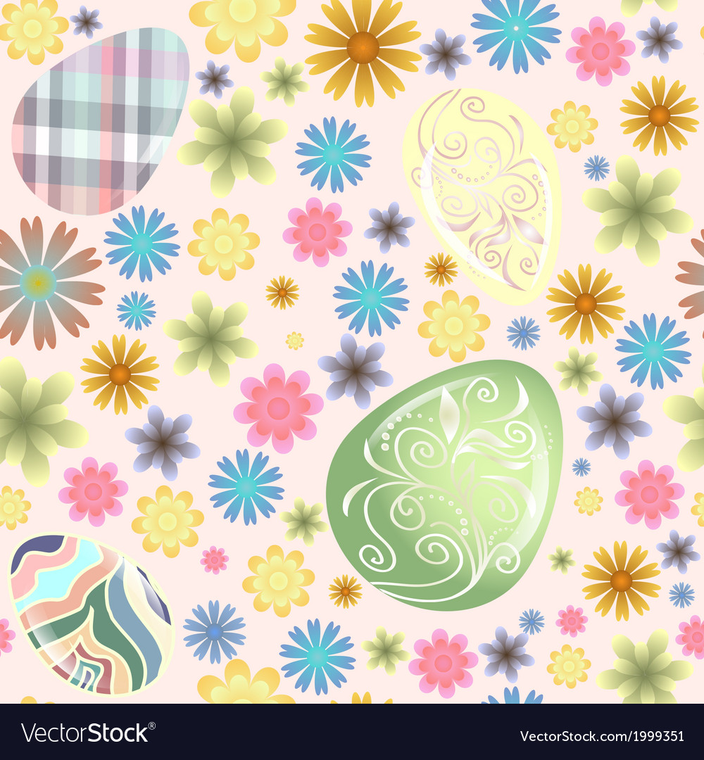 Seamless pattern easter eggs vector | Price: 1 Credit (USD $1)