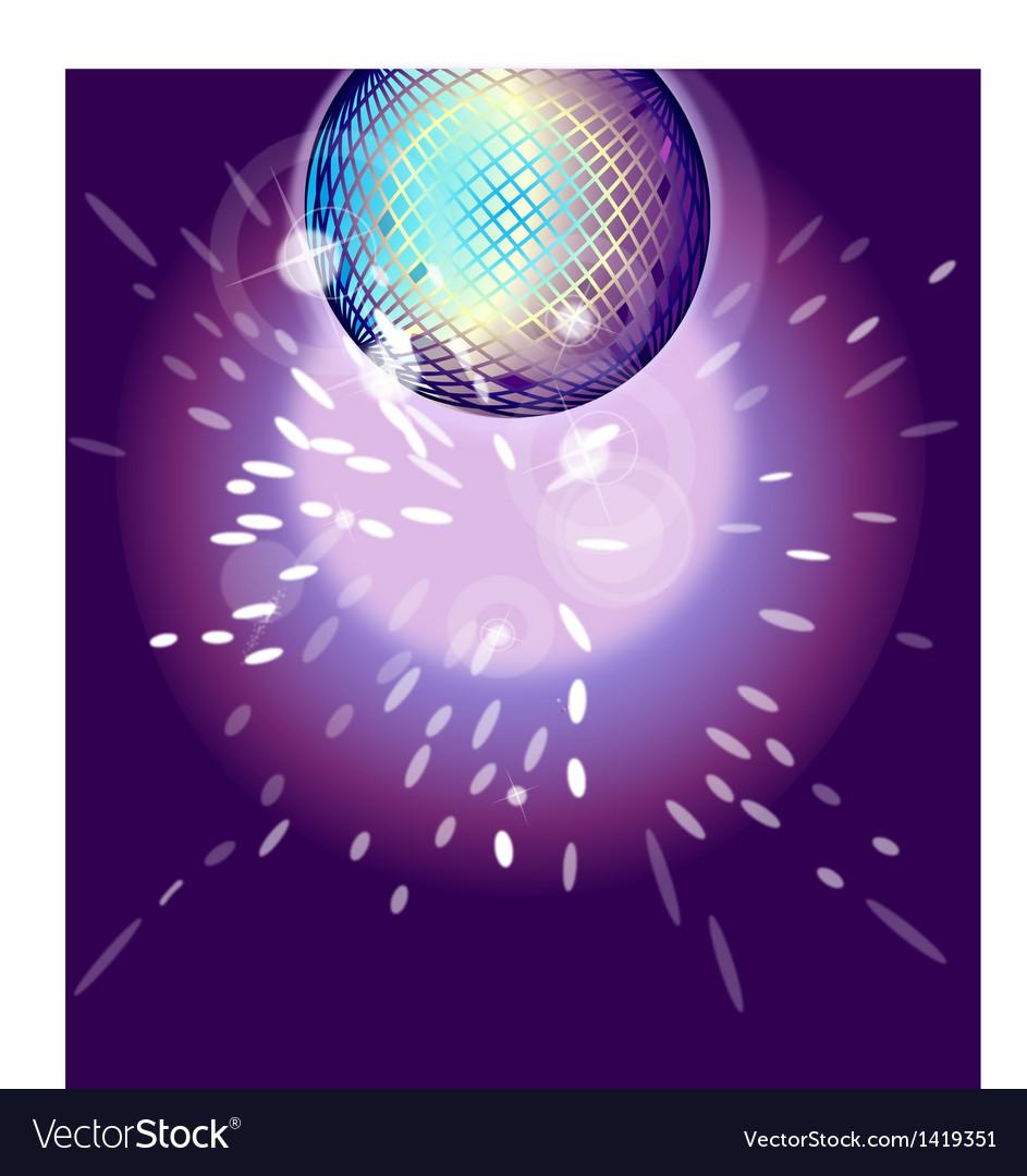 Shiny disco ball on nightclub vector | Price: 1 Credit (USD $1)