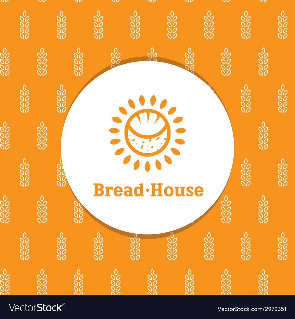 Sunny minimalistic bakery logotype with decorative vector | Price: 1 Credit (USD $1)