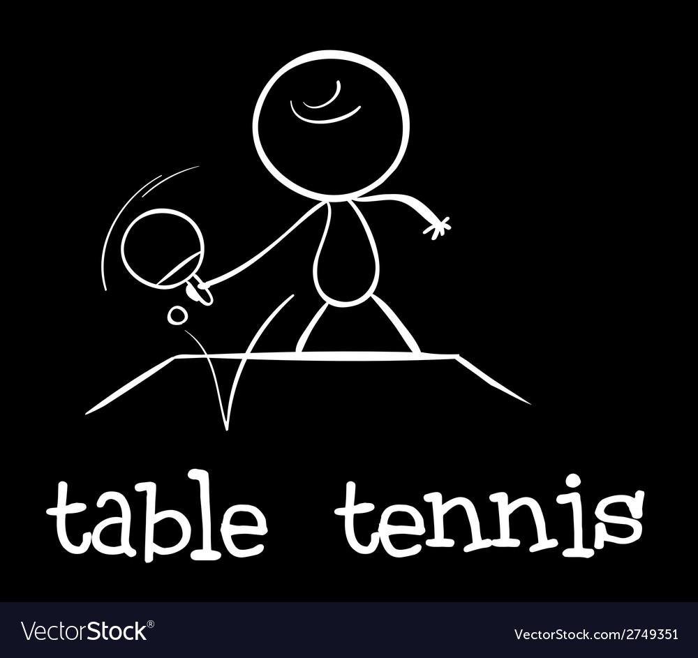 Table tennis vector   Price: 1 Credit (USD $1)