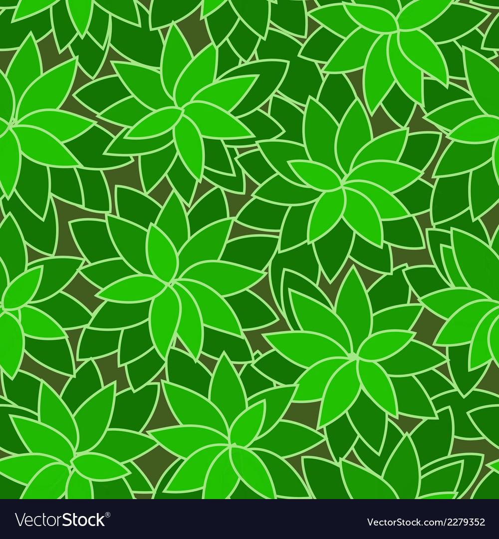Abstract green leaf plant seamless background vector | Price: 1 Credit (USD $1)