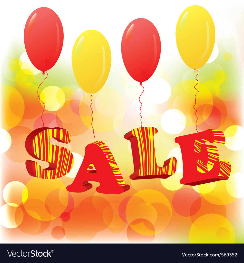 Abstract sale background with balloons eps10 vector | Price: 1 Credit (USD $1)