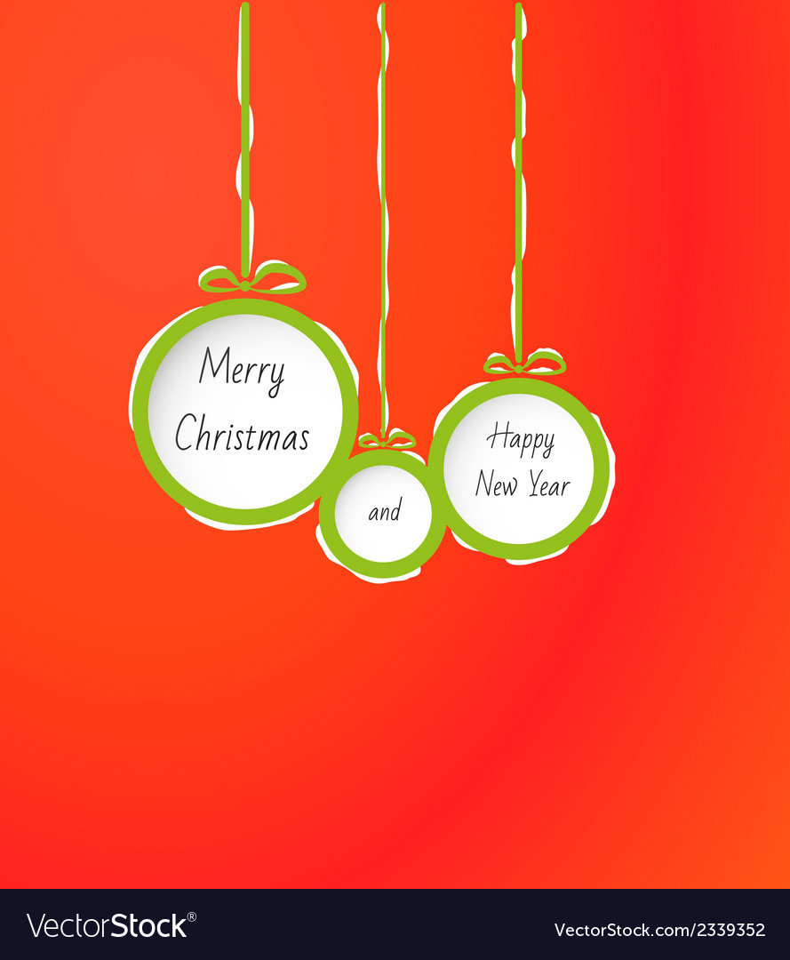 Balls with merry christmas and happy new year vector | Price: 1 Credit (USD $1)