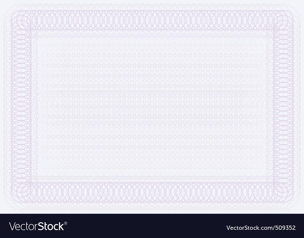Blank certificate template vector | Price: 1 Credit (USD $1)