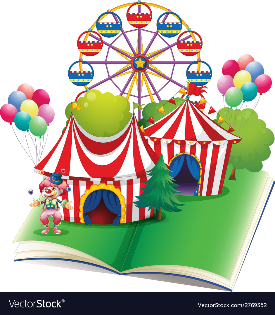 Circus book vector | Price: 1 Credit (USD $1)