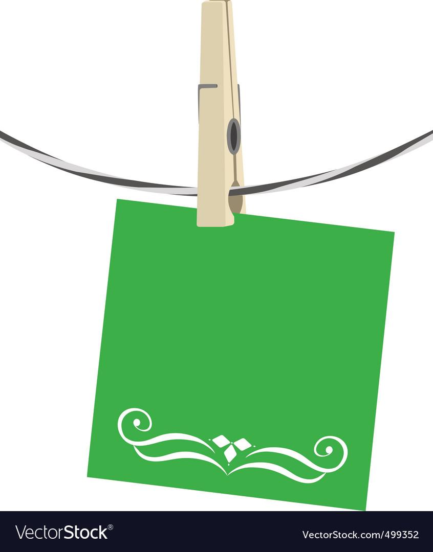 Clothesline paper vector | Price: 1 Credit (USD $1)
