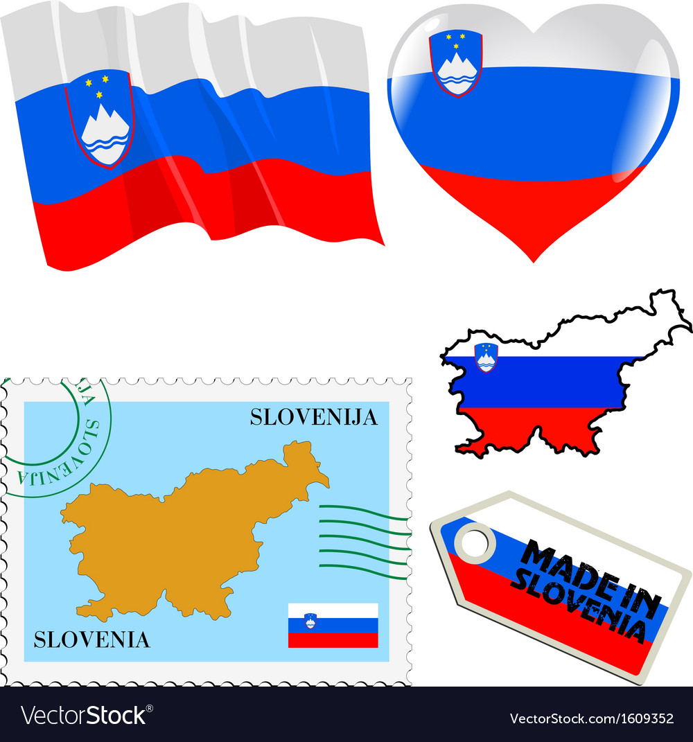 National colours of slovenia vector | Price: 1 Credit (USD $1)