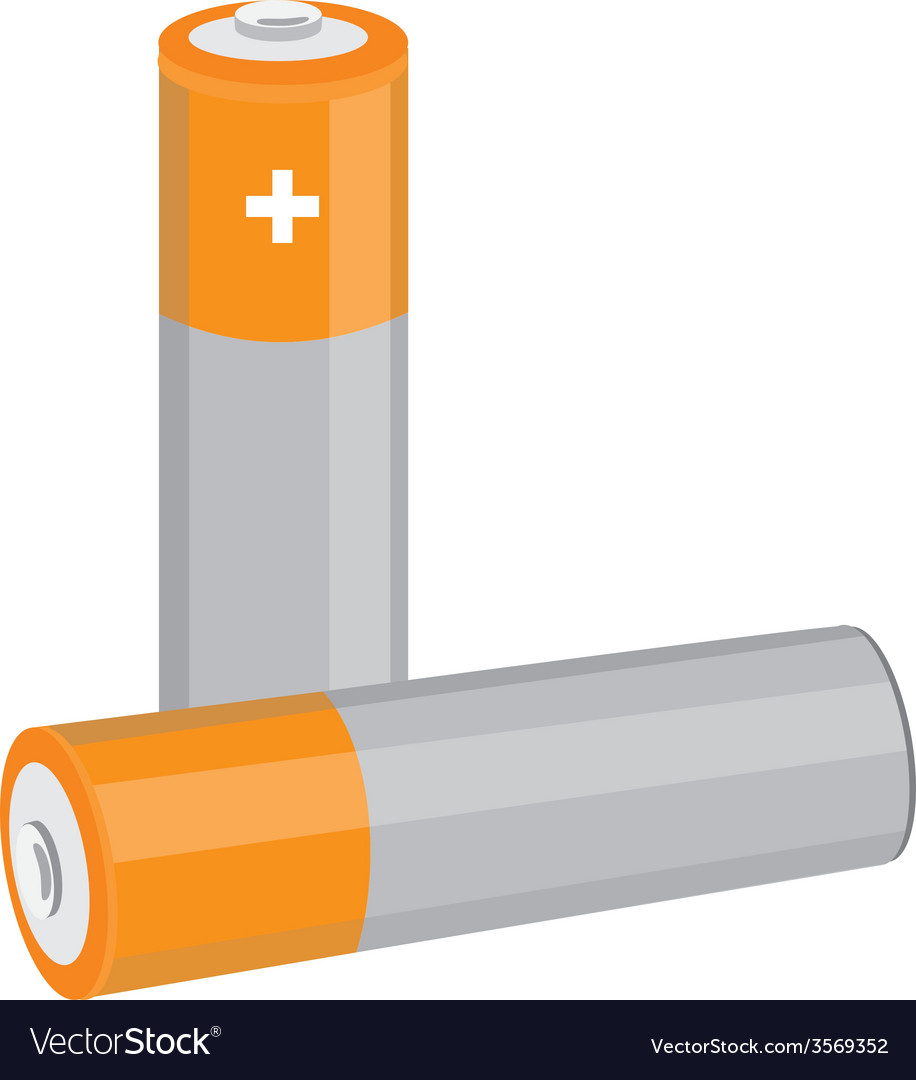 Orange batteries vector | Price: 1 Credit (USD $1)