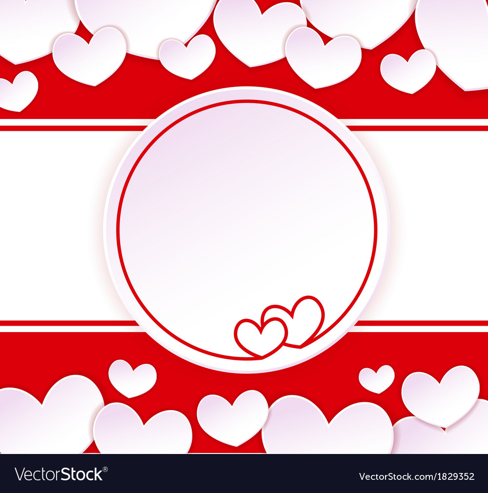 Paper banner with two hearts vector | Price: 1 Credit (USD $1)