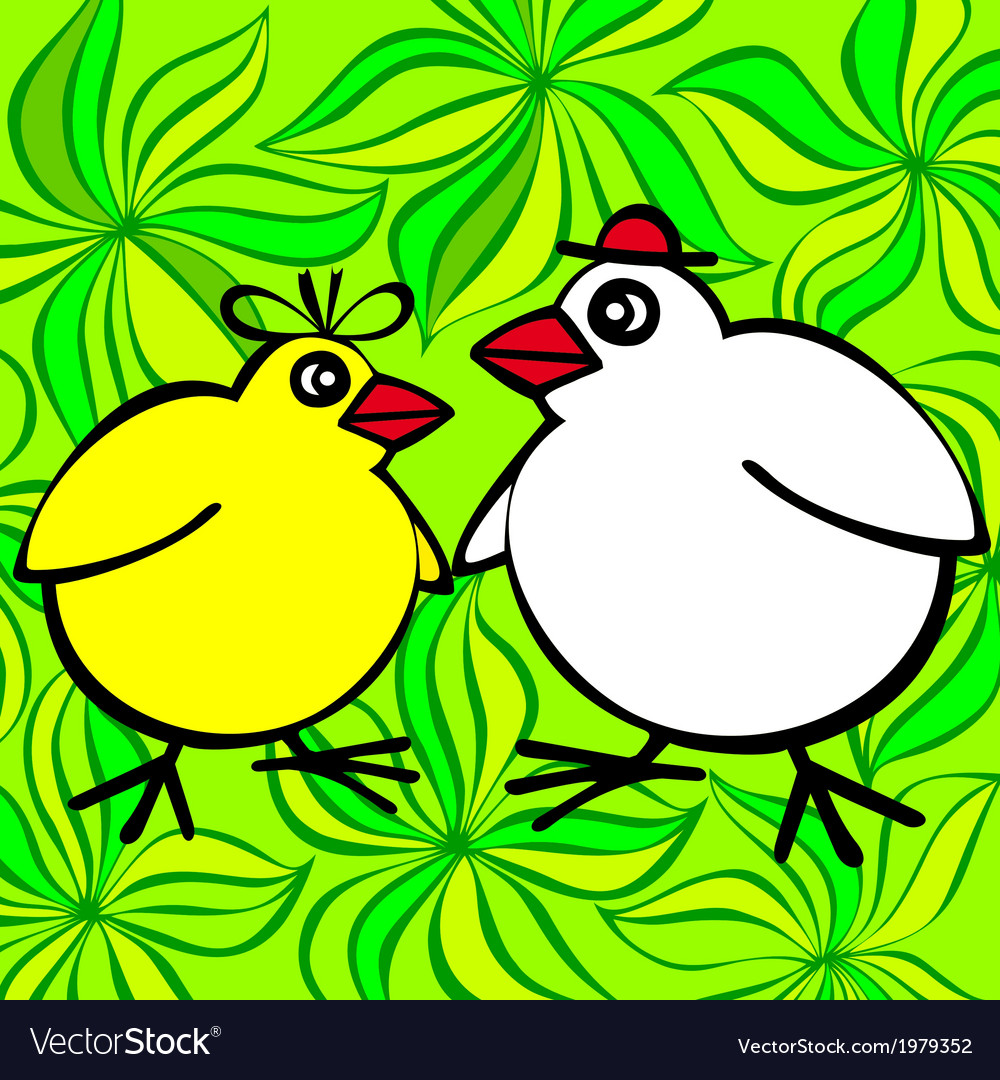 Spring chickens vector | Price: 1 Credit (USD $1)