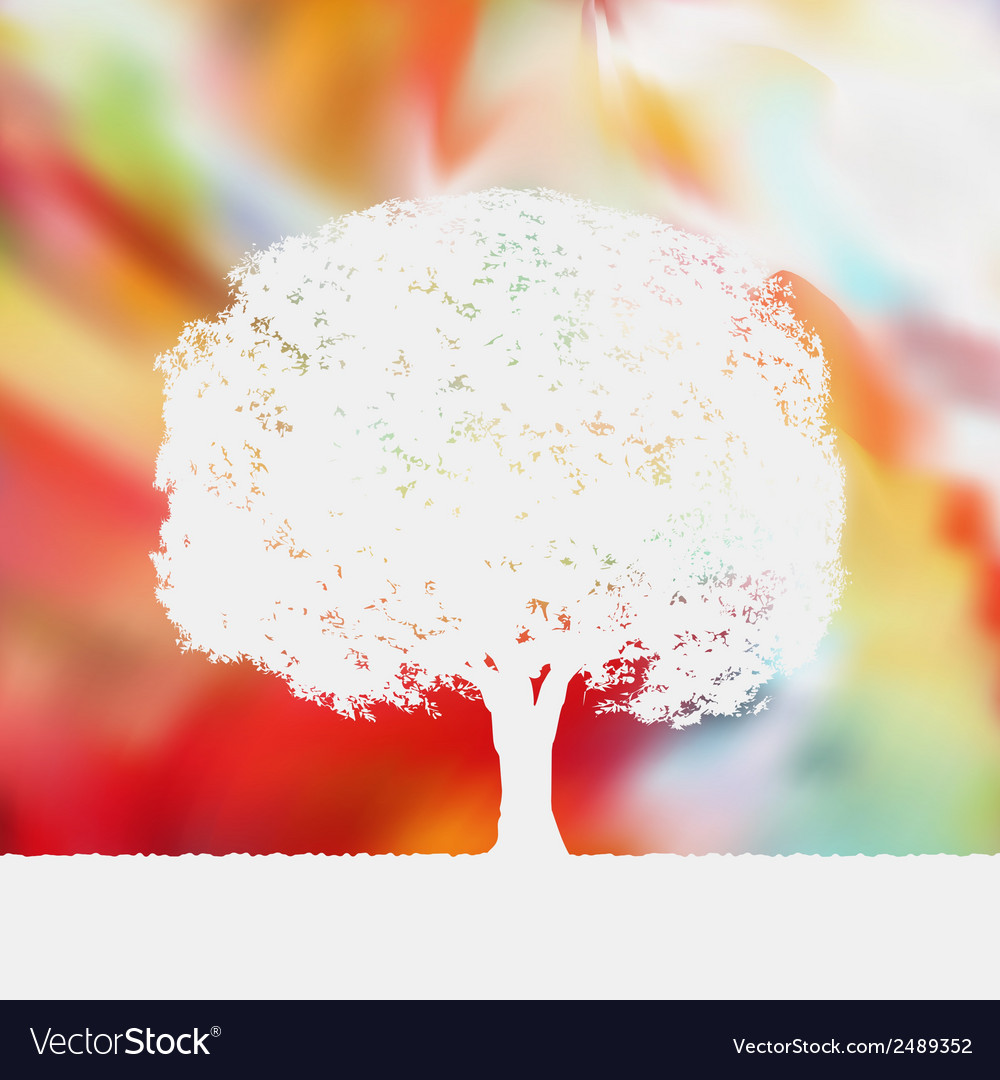 Summer background with tree silhouette eps 8 vector   Price: 1 Credit (USD $1)