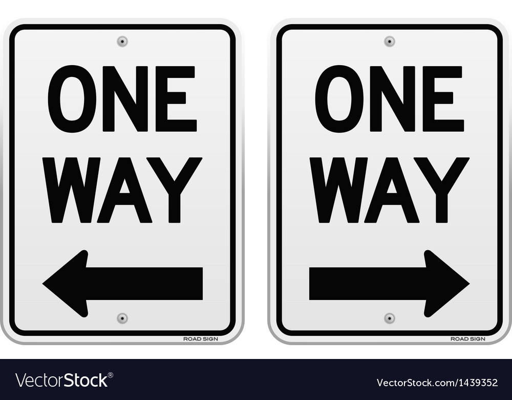 White one way signs vector | Price: 1 Credit (USD $1)
