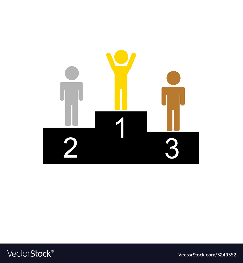 Winner and second and third place vector | Price: 1 Credit (USD $1)