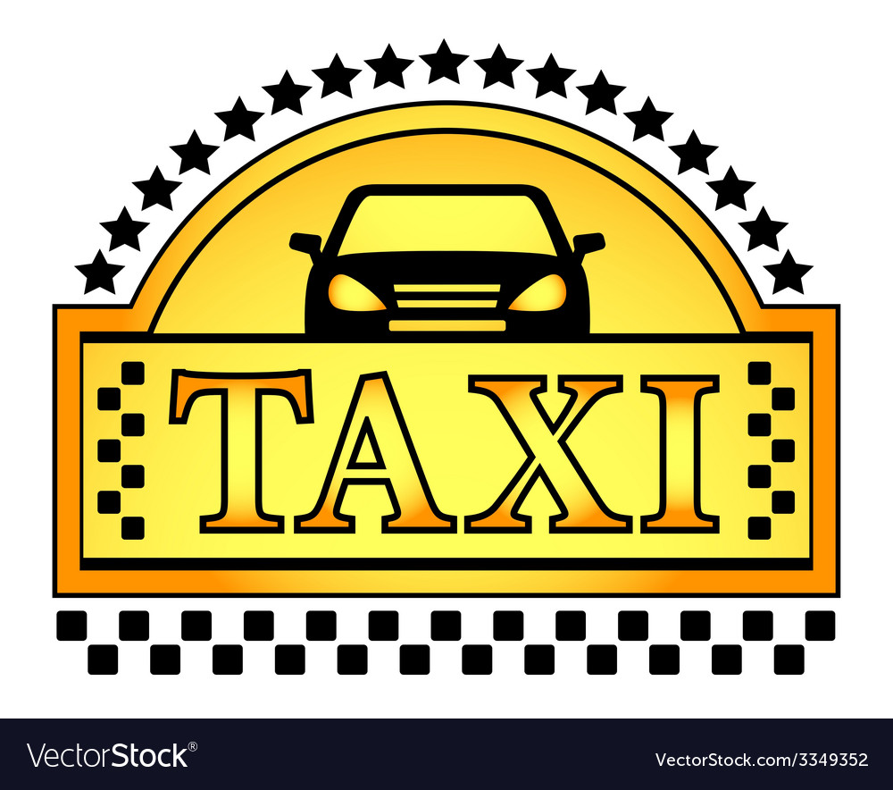 Yellow taxi blazon vector | Price: 1 Credit (USD $1)