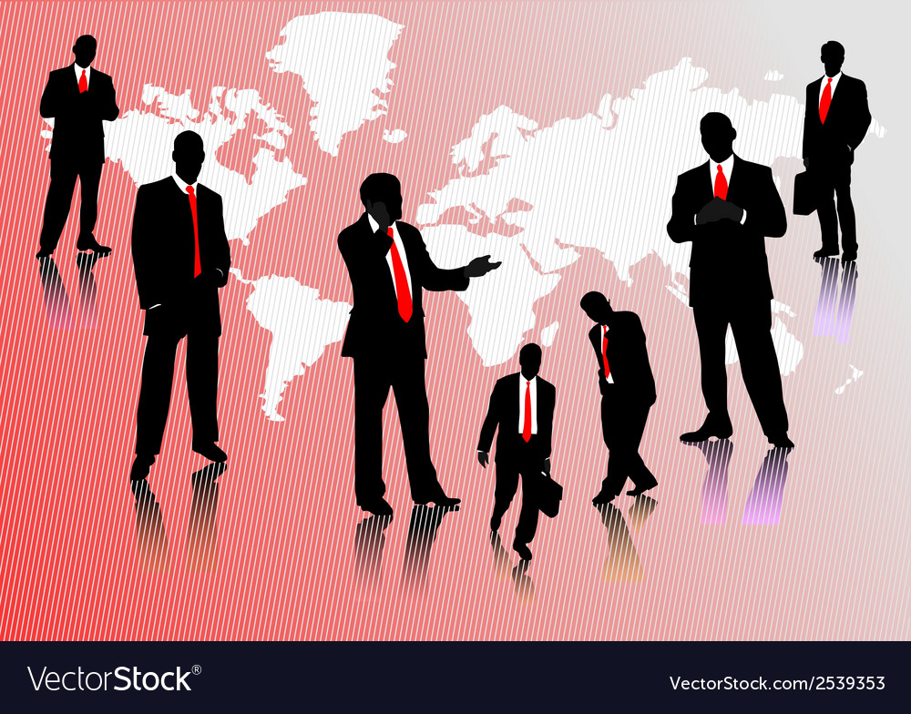 0214businessmen silhouettes vector | Price: 1 Credit (USD $1)