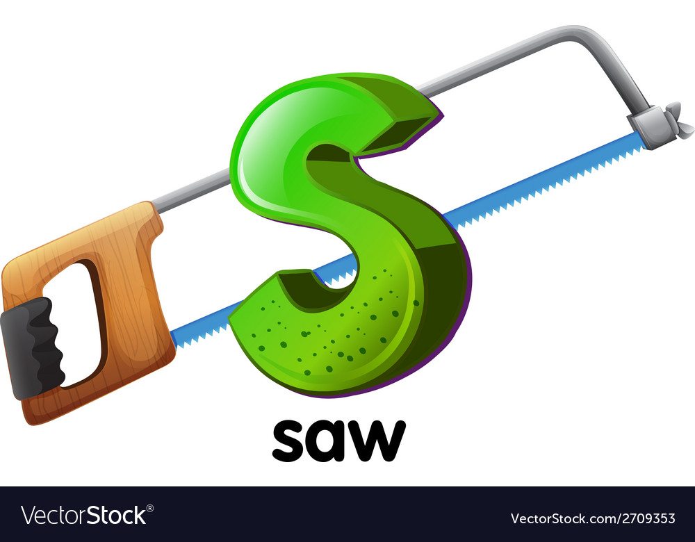 A letter s for saw vector | Price: 1 Credit (USD $1)