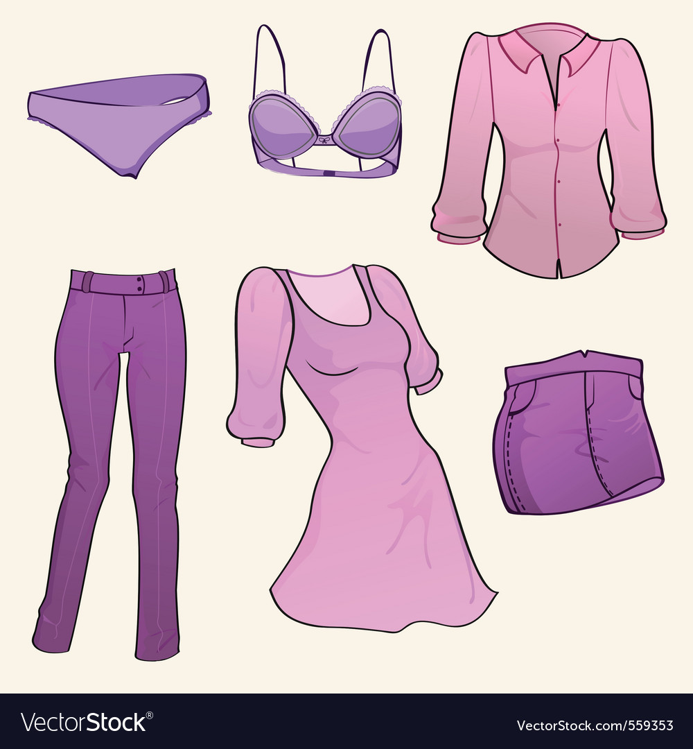 Clothes icon set vector   Price: 1 Credit (USD $1)