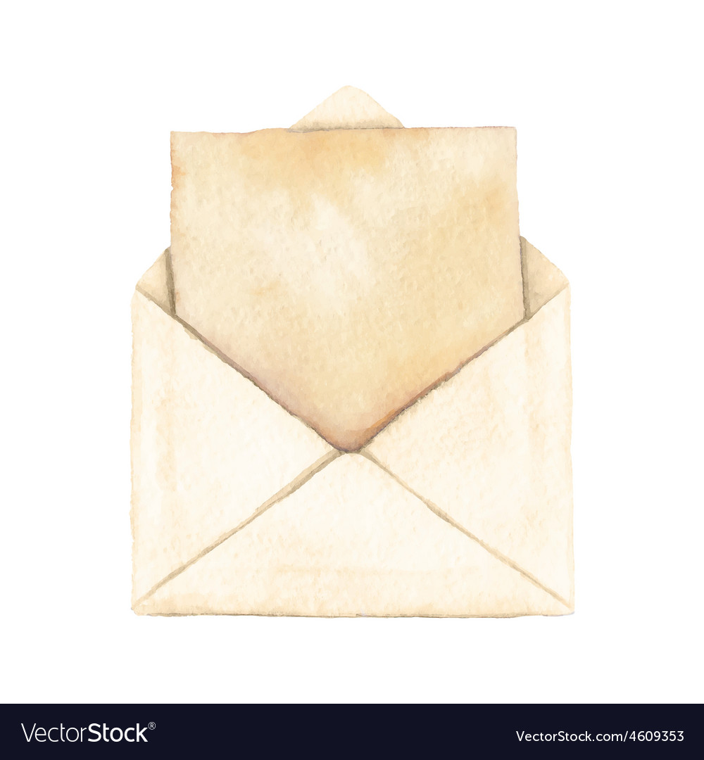 Envelope with a letter vector | Price: 1 Credit (USD $1)
