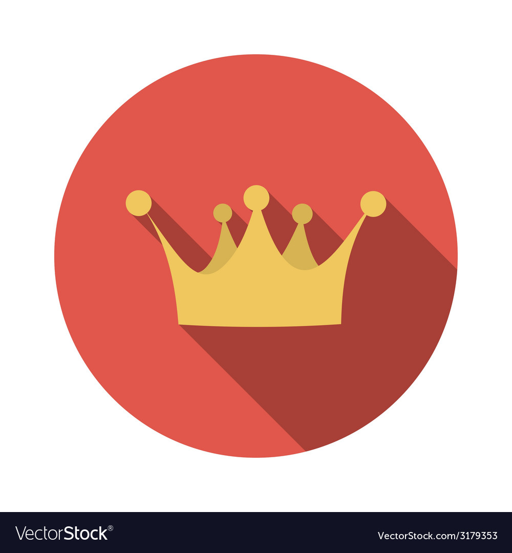 Flat design concept crown with long shadow vector | Price: 1 Credit (USD $1)