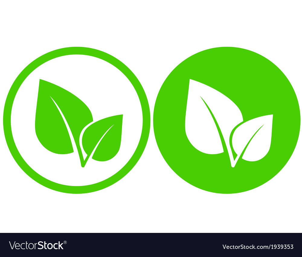 Green leaf icons vector | Price: 1 Credit (USD $1)
