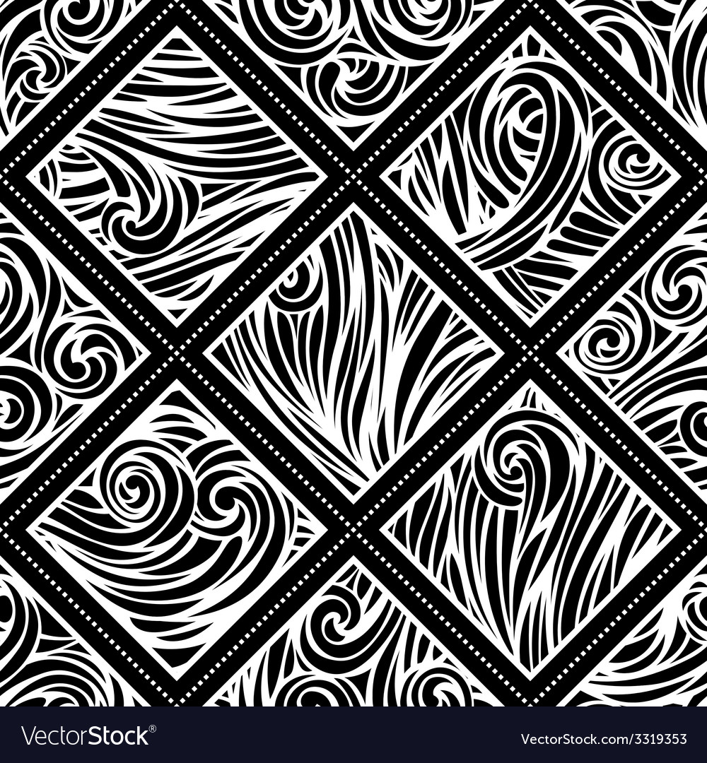 Hand-drawn waves pattern vector | Price: 1 Credit (USD $1)